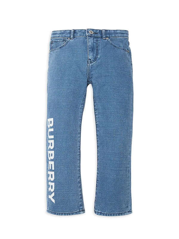 Burberry Kids' Little Boy's & Boy's Logo Jeans In Indigo