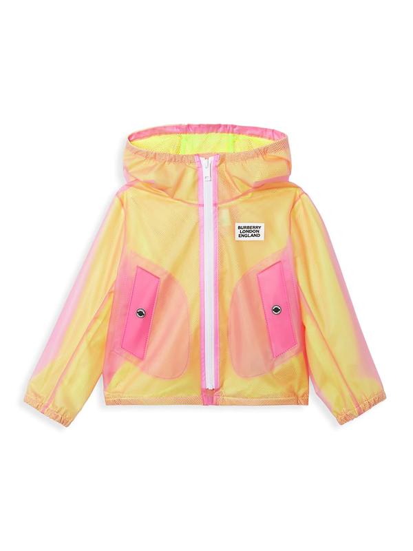 Burberry Kids' Little Girl's & Girl's Kg6 Bardy Two-tone Jacket In Yellow