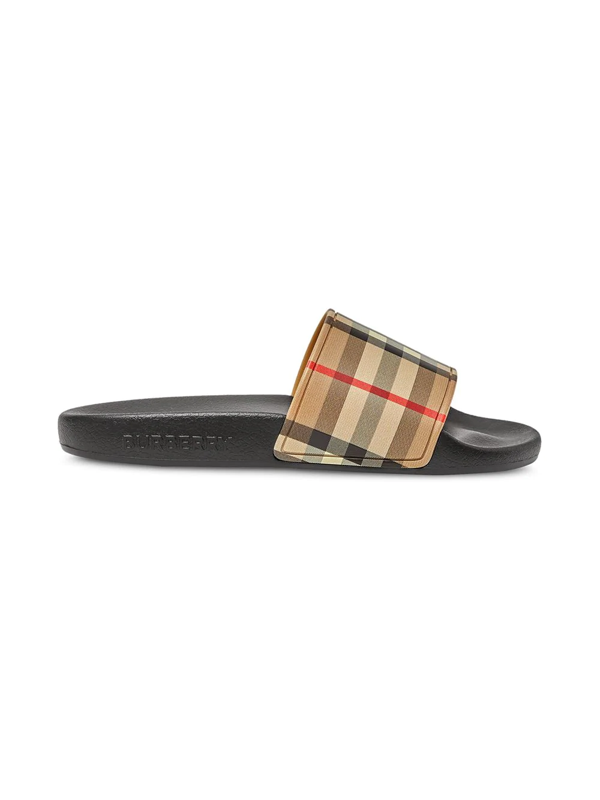 Burberry Little Kid's & Kid's Furley Vintage Check Pool Slides In Neutrals