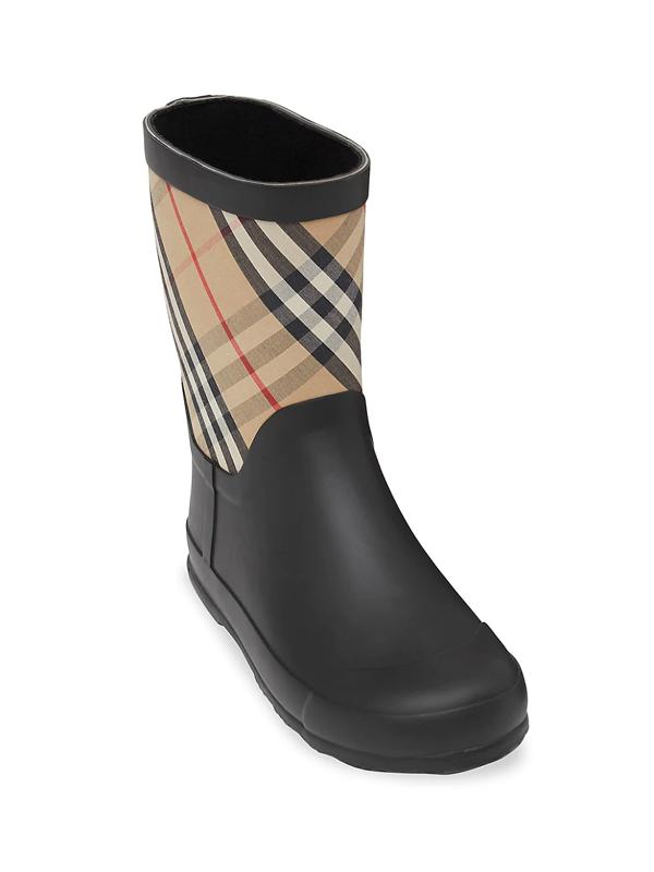 Burberry Kids' Little Girl's & Girl's Ranmoor Check Rain Boots In Archive Beige