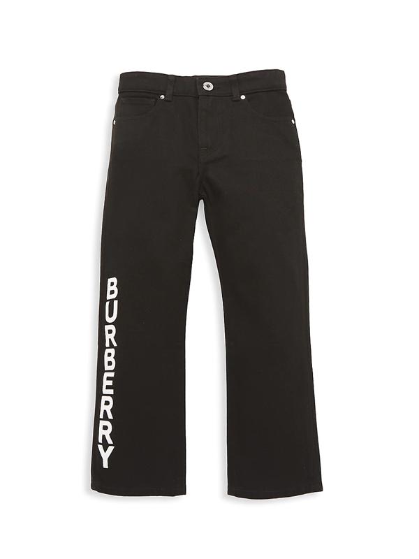 Burberry Kids' Little Boy's & Boy's Kb4 Aldric Straight-leg Jeans In Black