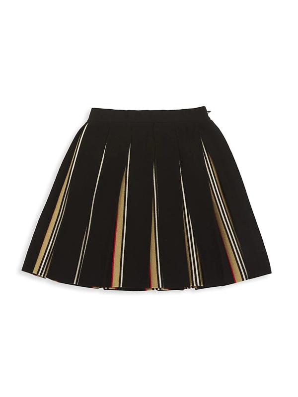 Burberry Kids' Little Girl's & Girl's Amelia Pleated Skirt In Black