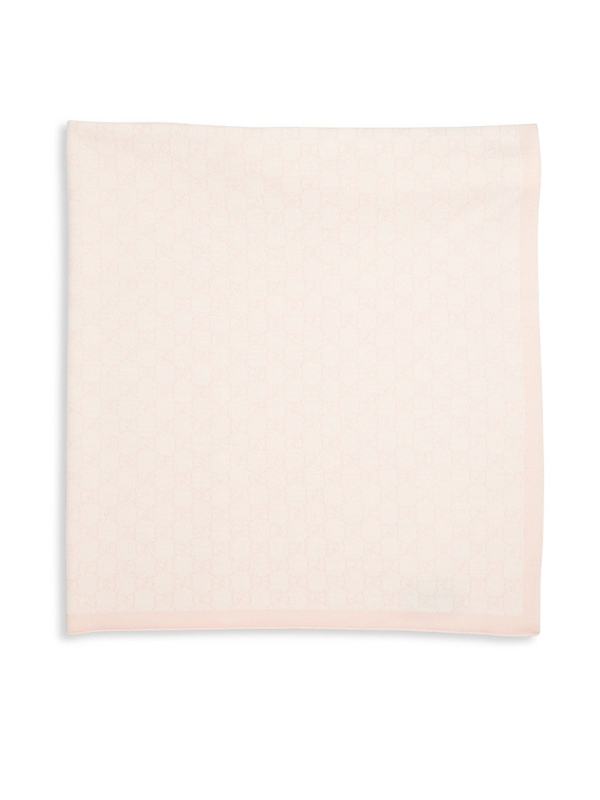 Gucci Baby's Gg Pattern Wool Blanket