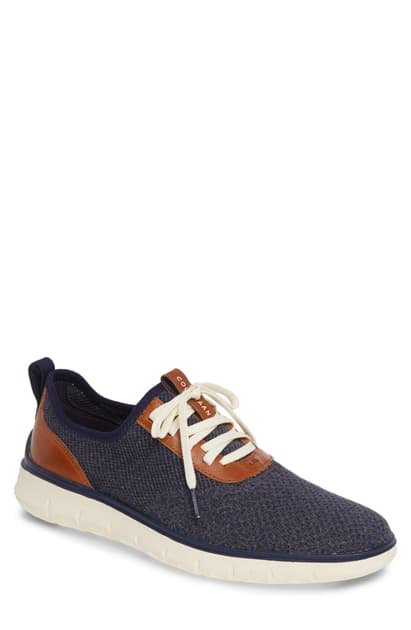 Cole Haan Men's Generation Zerogrand Stitchlite Sneakers In Marine/ Gray/ Ivory
