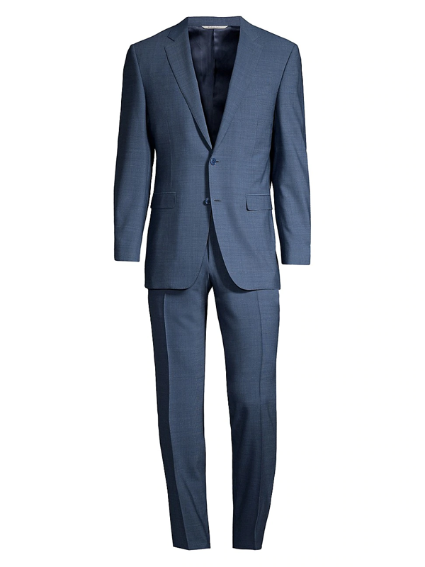 Canali Men's Wool Twill Single-breasted Suit In Blue