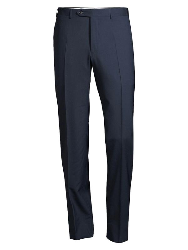 Canali Men's Wool Trousers In Navy