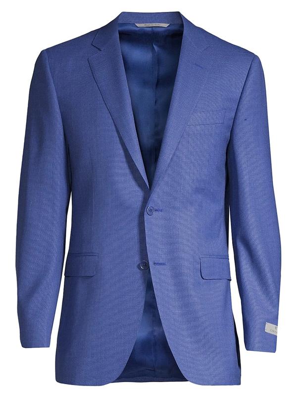 Canali Men's Solid Wool Sportcoat In Dark Blue