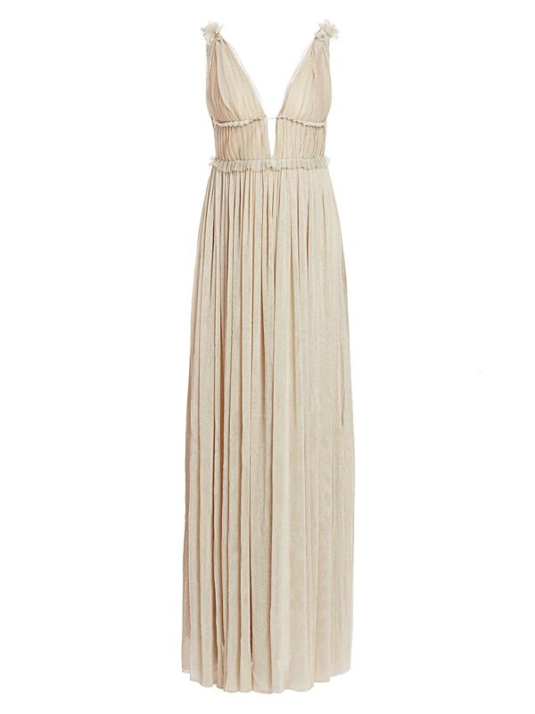 Mestiza New York Women's Savannah Victoria Metallic Tulle Gown