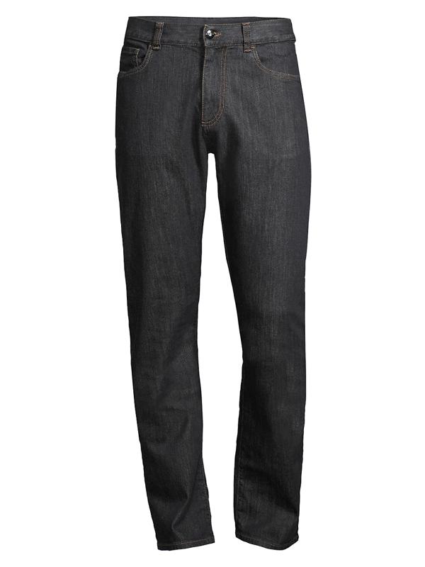 Canali Men's Modern-fit Jeans In Black