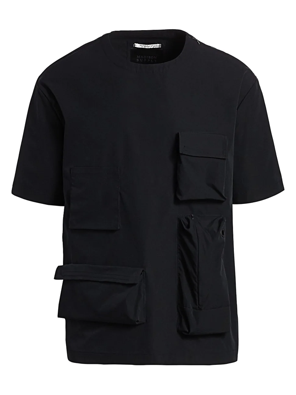 Madison Supply Men's Cargo Pocket T-shirt In Black