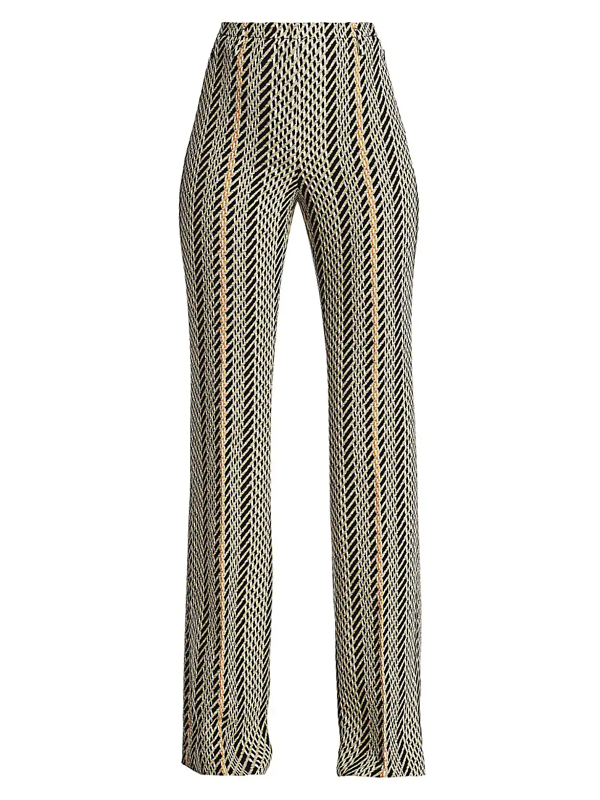Akris Women's Farrah Double Face Tweed Bootcut Pants In Neutral