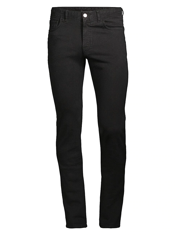 Brioni Men's Slim-fit Straight Jeans In Black