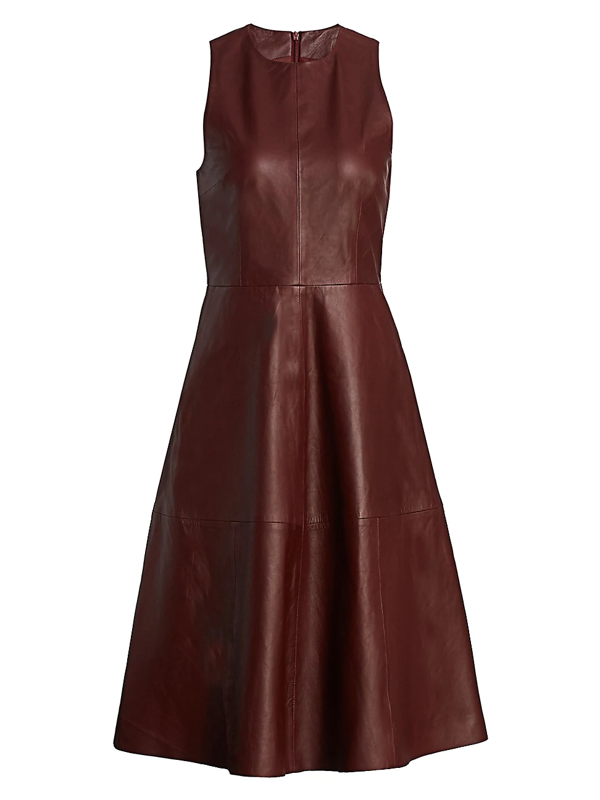 Remain Birger Christensen Women's Portia Leather Dress In Port Royale