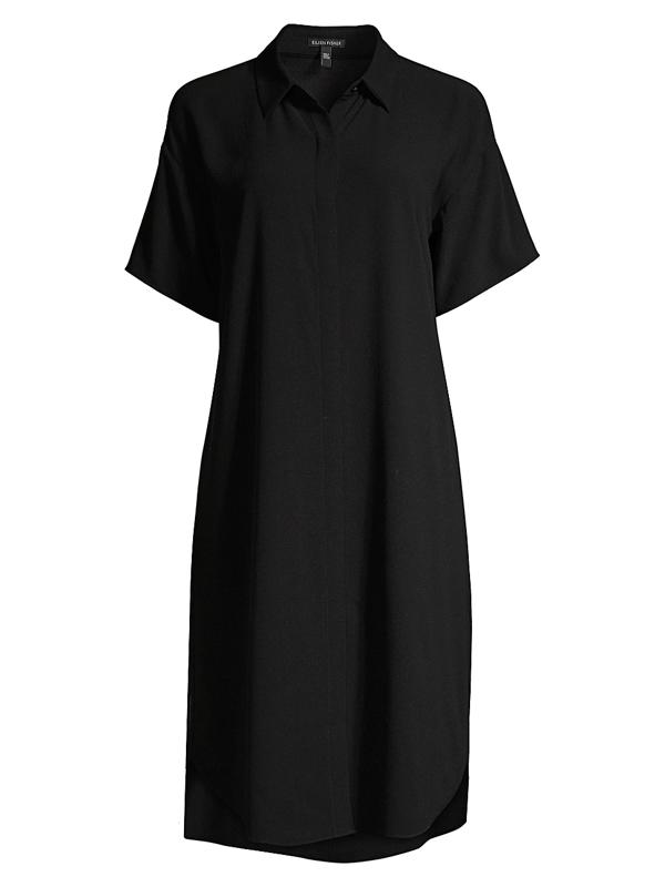 Eileen Fisher Women's Silk Shirtdress In Black