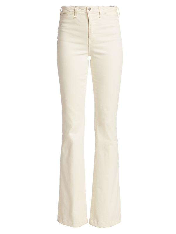 L Agence Women's Joplin High-rise Flare Jeans In Vintage White