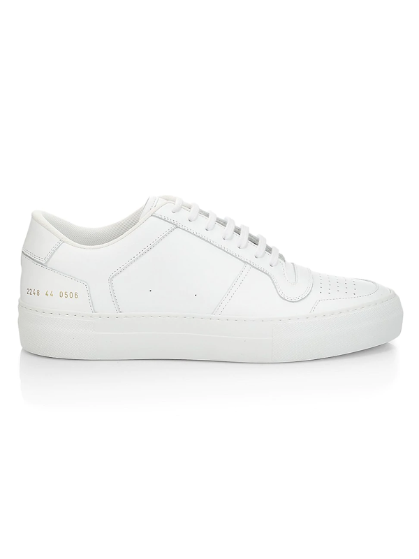Common Projects Men's Full Court Leather Low-top Sneakers In White