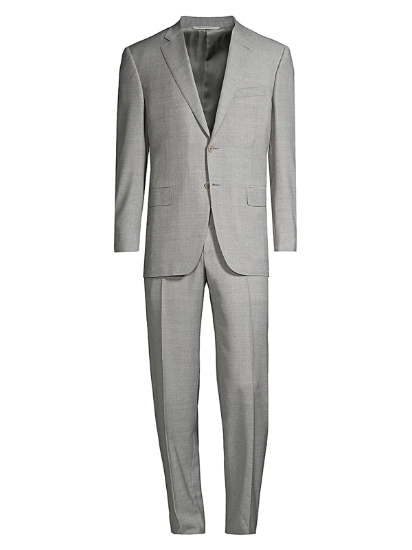 Canali Men's Texture Single-breasted Suit In Grey