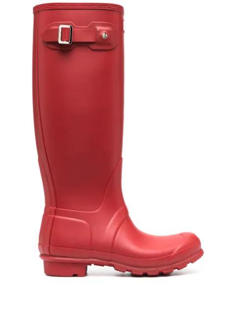 Hunter Original Tall Rain Boots In Red