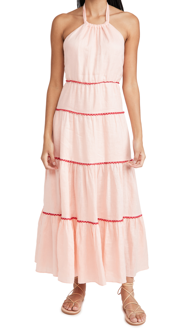 Paloma Blue India Dress In Solid Blush