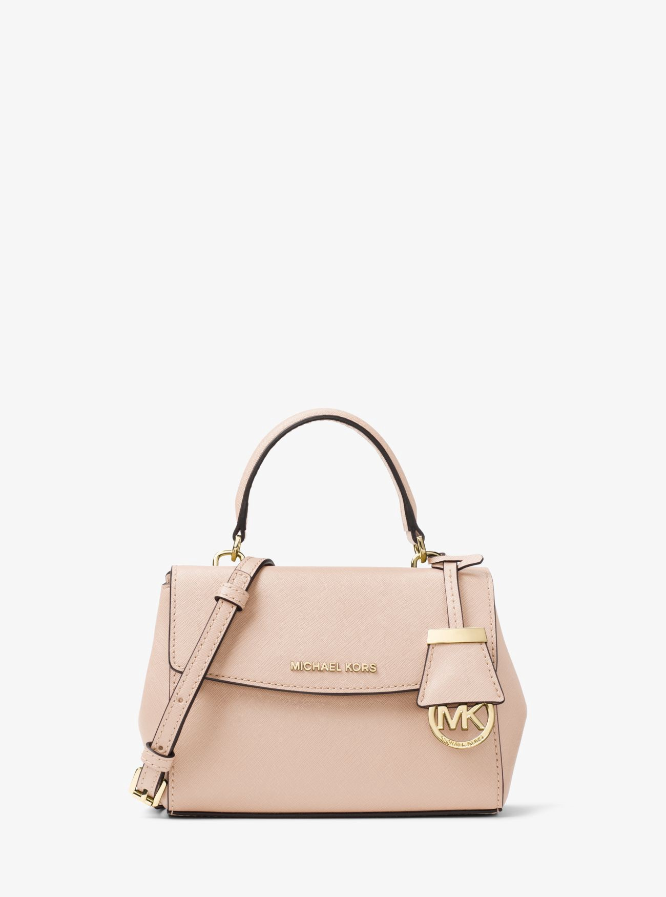ecc4e9164e3f Michael Kors Ava Extra-Small Saffiano Leather Crossbody In Soft Pink ...