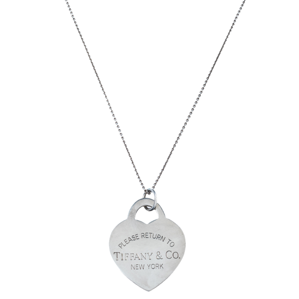 Pre-owned Tiffany & Co Return To Tiffany Heart Tag Silver Extra Large Pendant Necklace