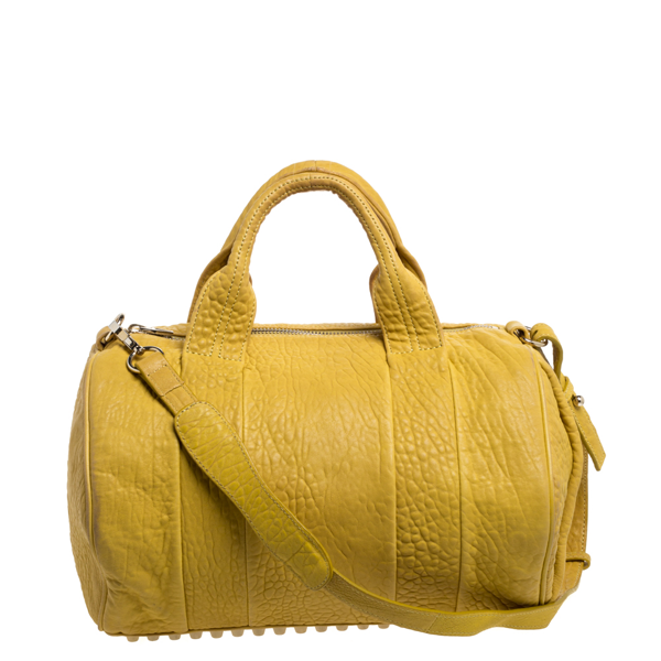 Pre-owned Alexander Wang Yellow Leather Rocco Duffle Bag