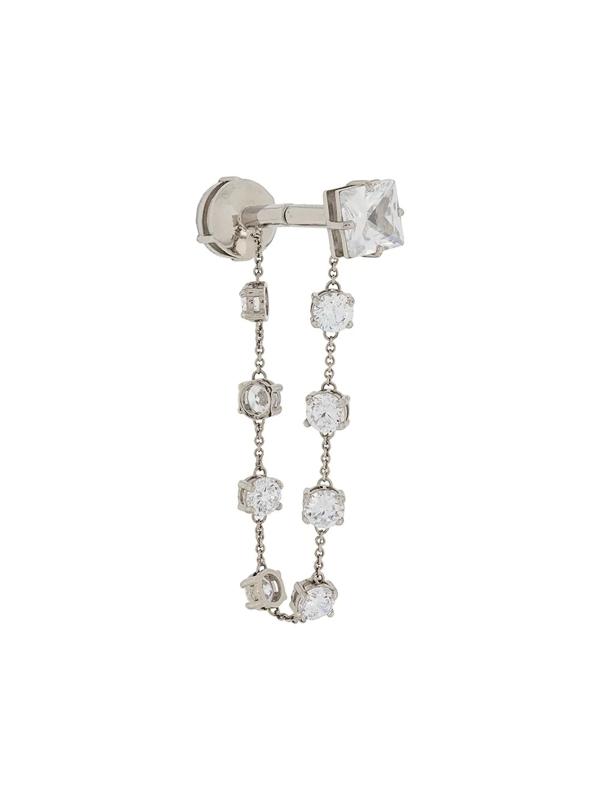 Fenty Crystal Chain Earrings In Metallic