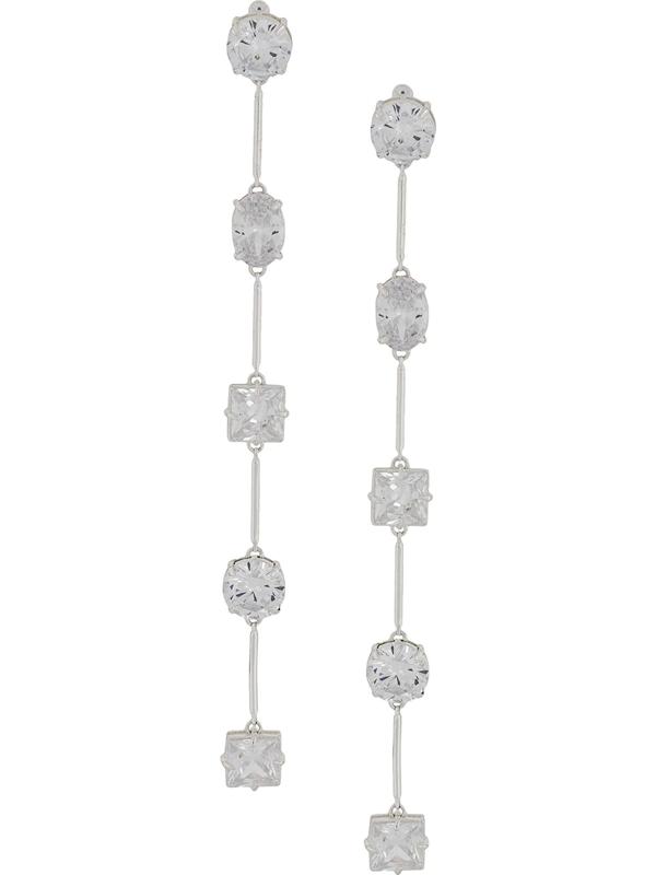 Fenty Crystal-embellished Drop Earrings In Silver
