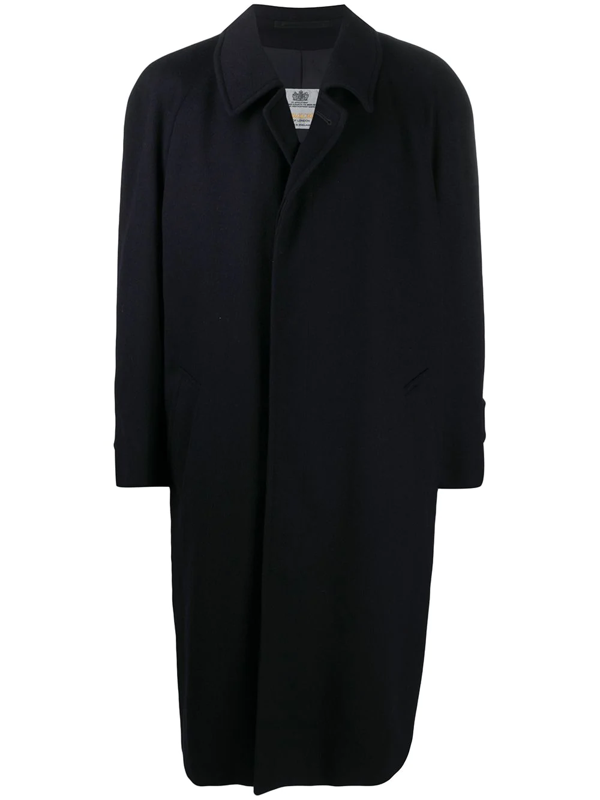 A.n.g.e.l.o. Vintage Cult 1990s  Wool Mid-length Coat In Blue