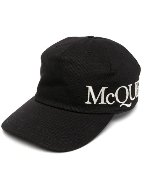 Alexander Mcqueen Logo Embroidered Cap In Black