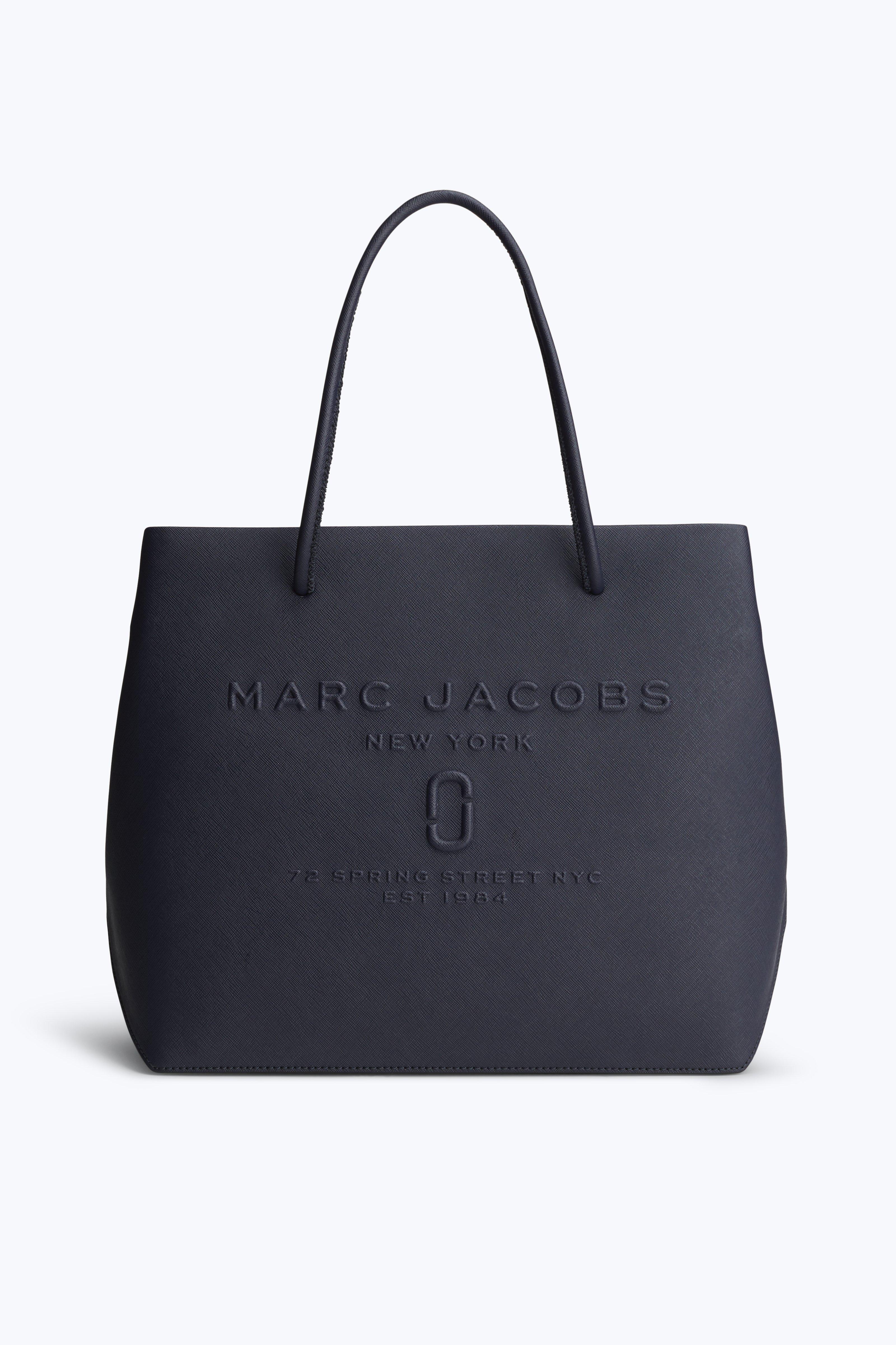 2fef274b43c2 Marc Jacobs Logo Shopper East-West Tote In Blue Sea
