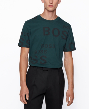 Hugo Boss Boss Men's Tiburt Regular-fit T-shirt In Open Green