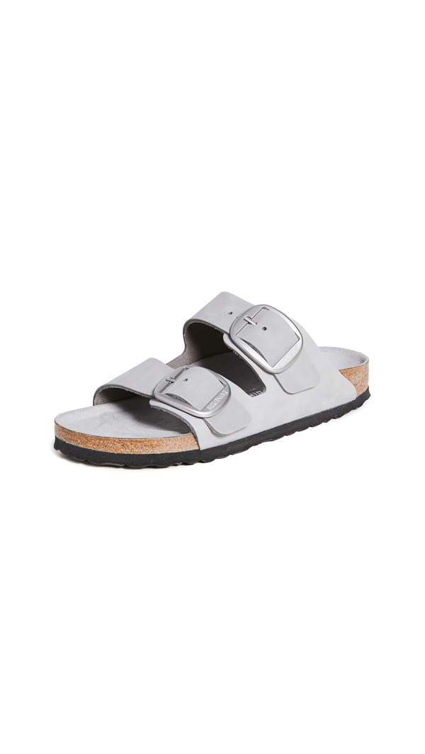 Birkenstock Women's Arizona Big Buckle Slide Sandals In Dove Gray