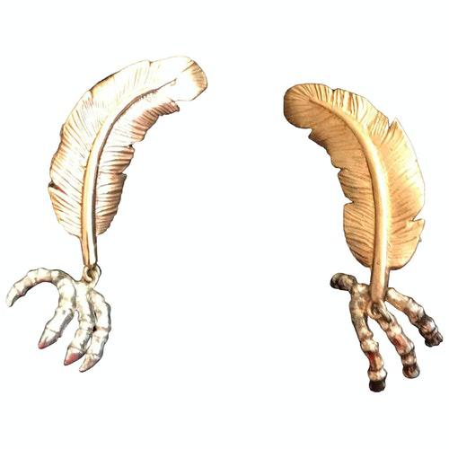 Pre-owned Bernard Delettrez Gold Metal Earrings
