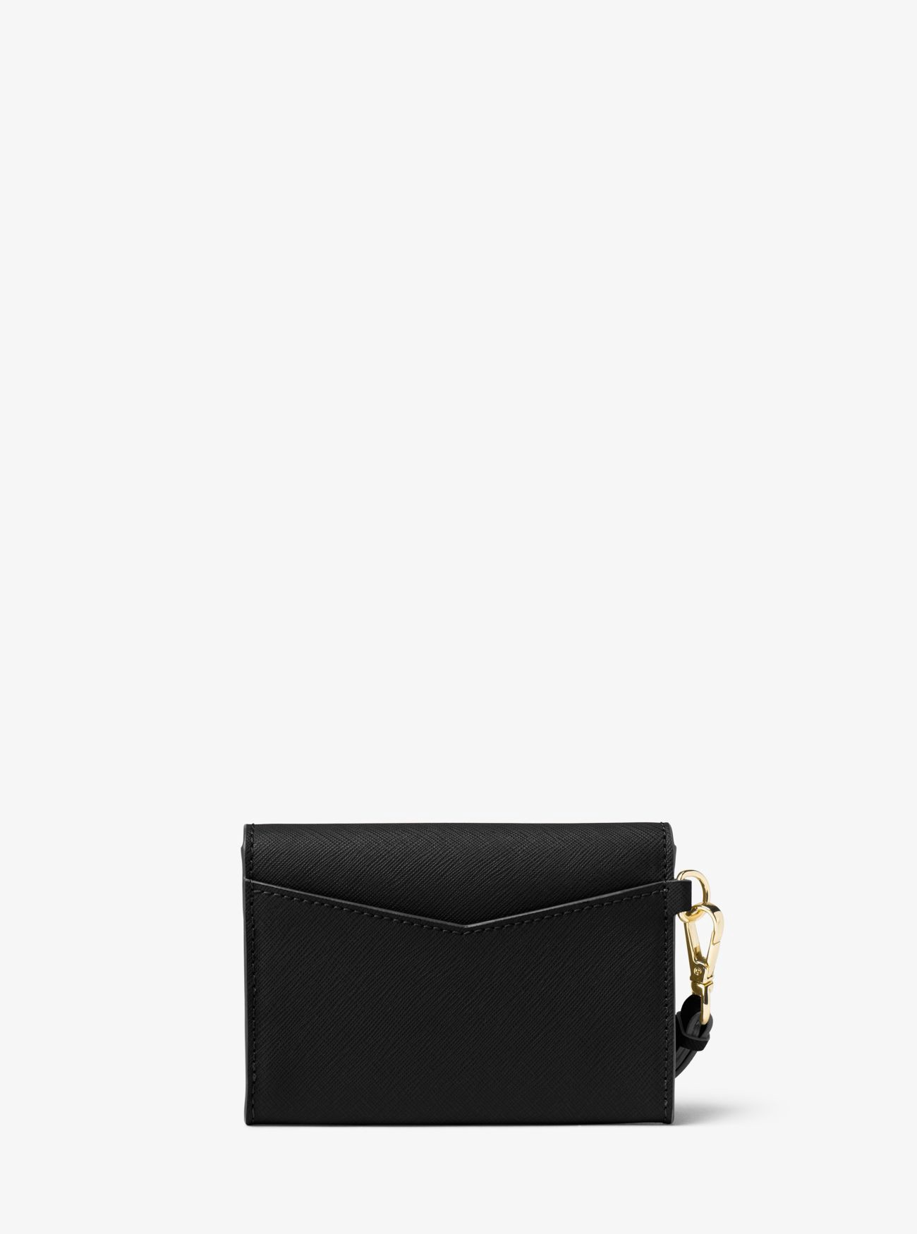 d4d65cfa72fd Michael Kors Honey Medium Leather Wristlet In Black | ModeSens