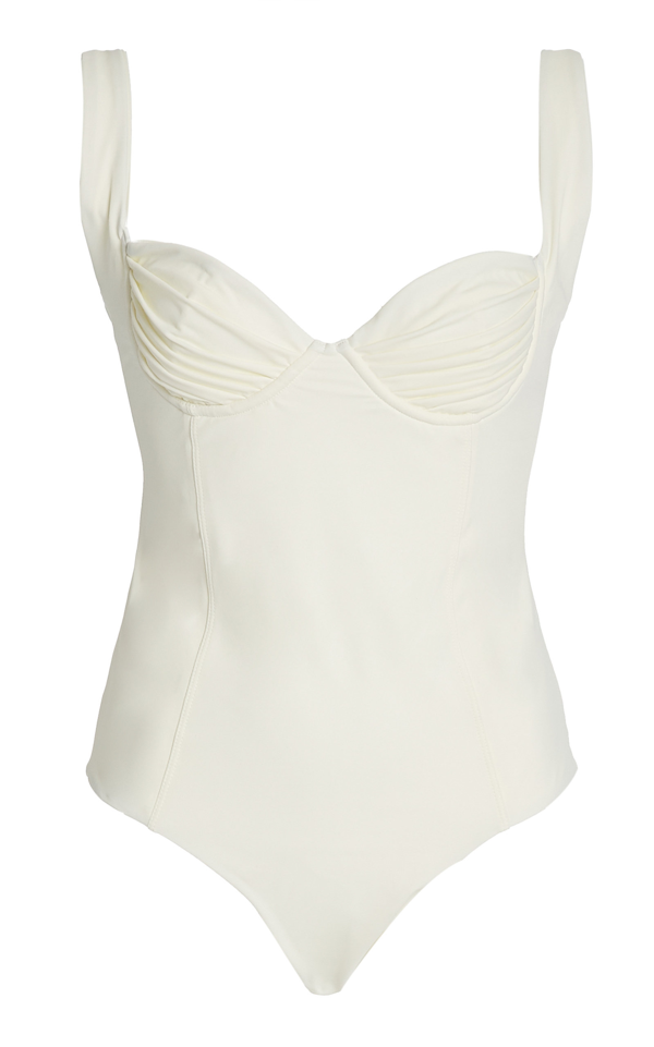 Palm Kelly One-piece Swimsuit In Ivory