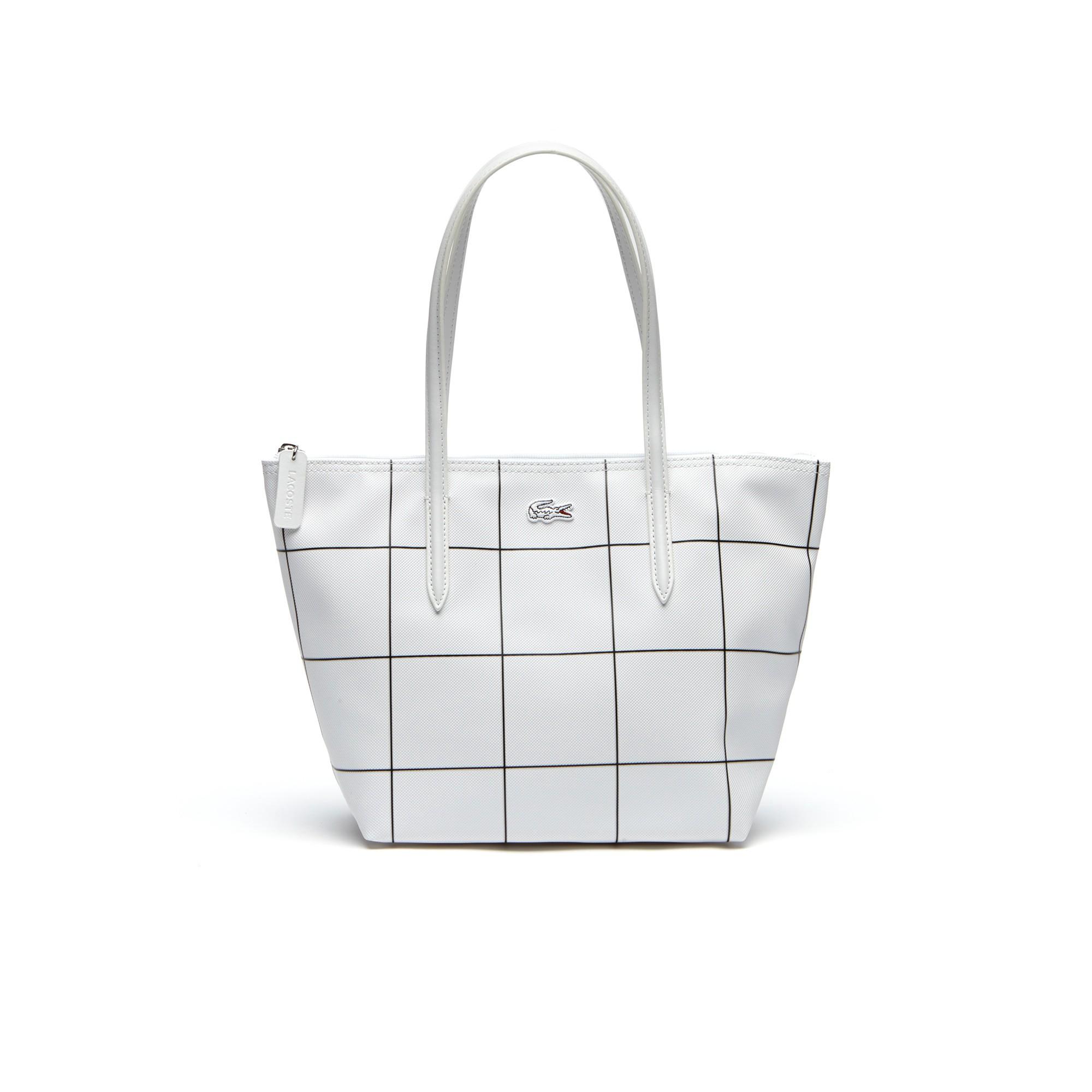 bdfadb0d42 Women's L.12.12 Concept White Squares Small Zip Tote Bag - 943943