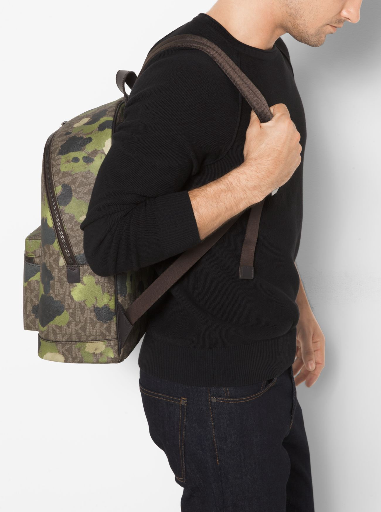 3702c7afa041 Michael Kors Jet Set Painterly Camo Backpack In Evergreen | ModeSens