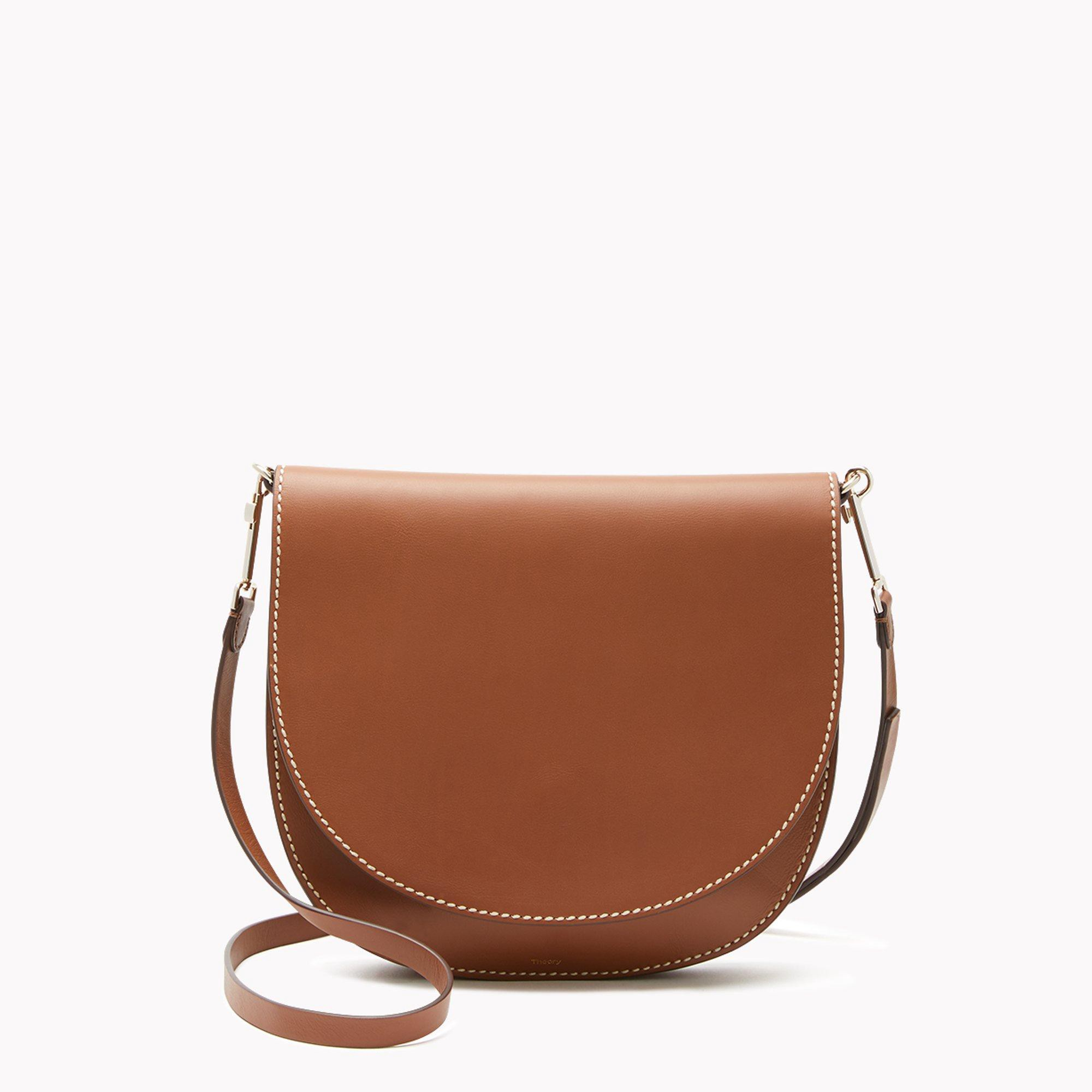 dce4e09472ec Theory Whitney Crossbody Bag In Leather - Cognac | ModeSens