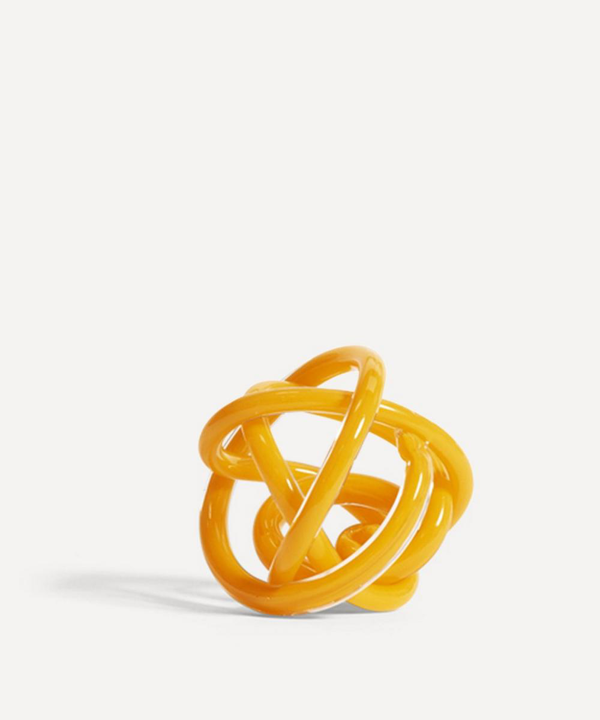 Hay Small Knot No.2 Glass Ornament In Yellow