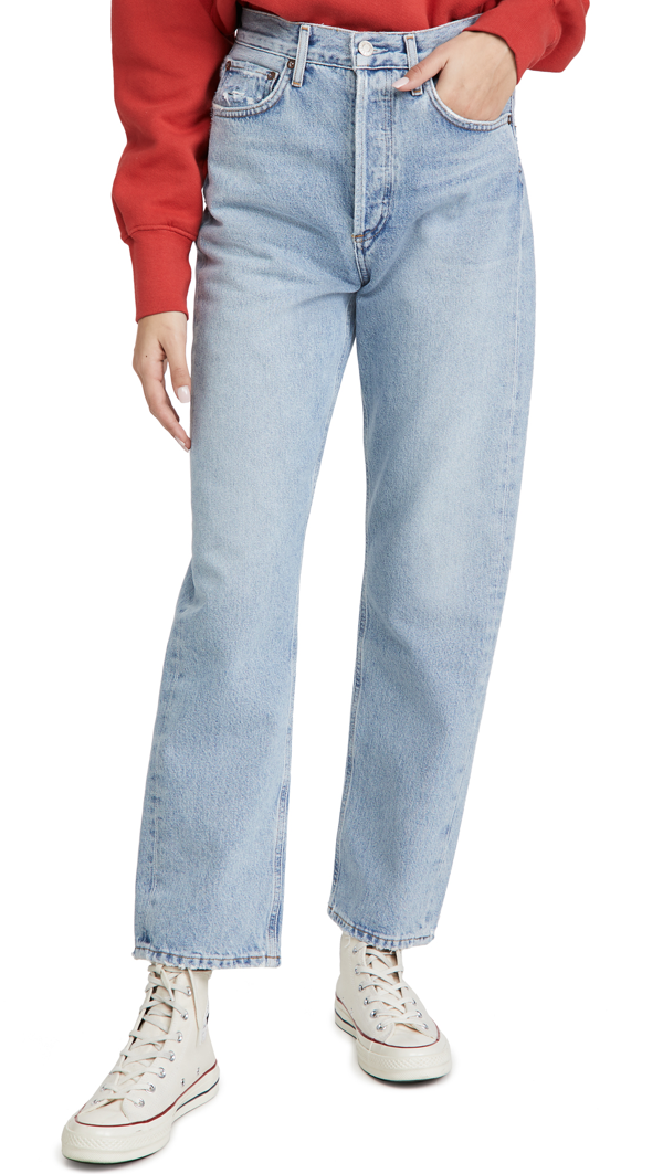 Agolde Blue 90's Mid-rise Loose Fit Jeans In Snapshot