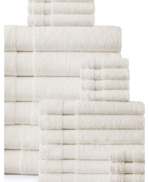 Addy Home Fashions Plush Towel Set - 24 Piece Bedding In Ivory