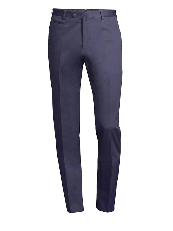 Corneliani Men's Stretch Cotton Trousers In Blue