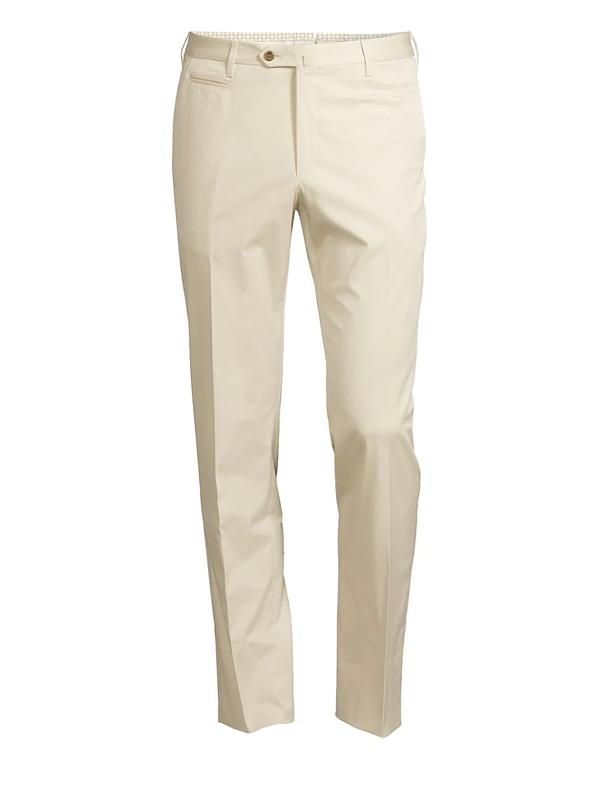 Corneliani Men's Cotton Stretch Trousers In Khaki