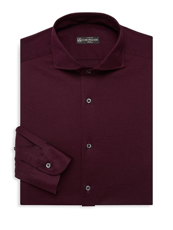 Corneliani Men's Modern-fit Dress Shirt In Burgundy