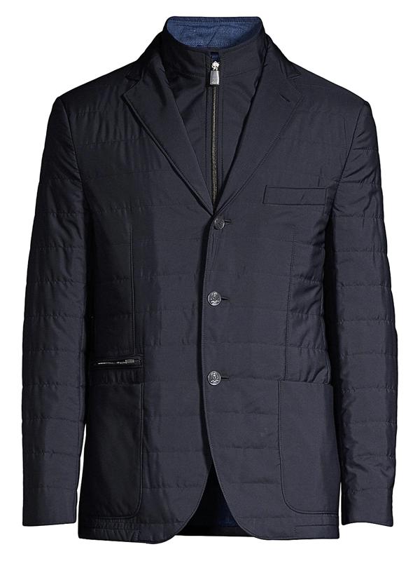 Corneliani Men's Miltedstone Quilted Blazer In Navy