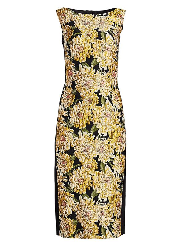 Escada Women's Dlleha Chrysanthemum Jacquard Sheath Dress In Black