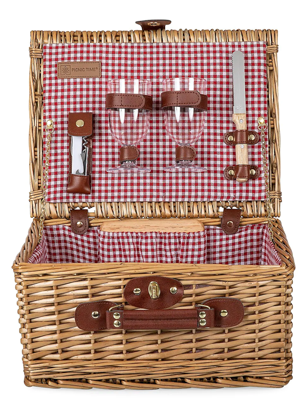 Picnic Time Classic 6-piece Wine & Cheese Basket