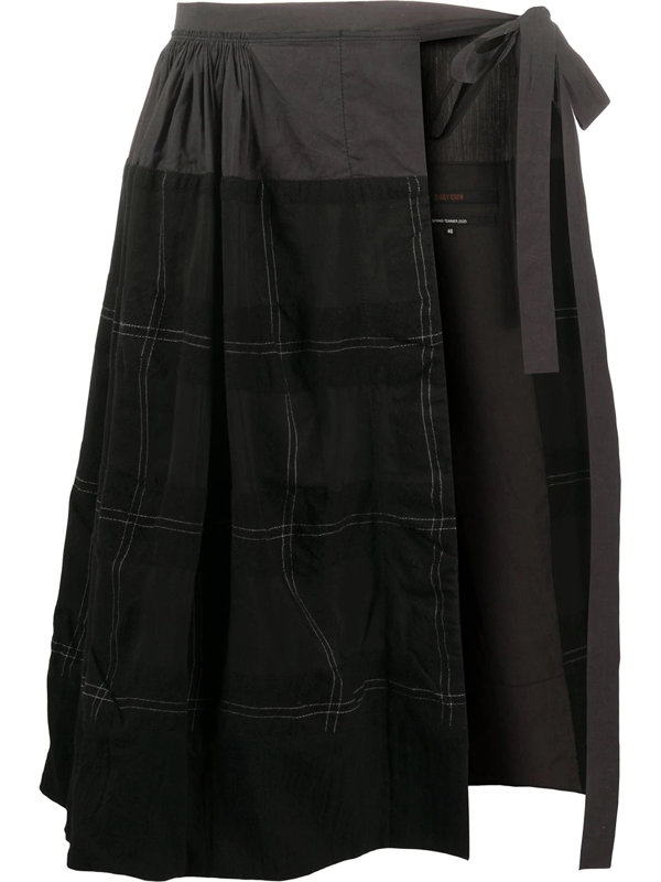 Ziggy Chen Skirt Wrap In Black