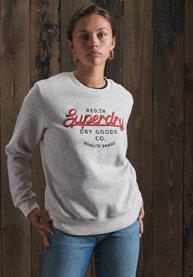 Superdry Crafted Workwear Sweatshirt Mit Rundhalsausschnitt In Light Grey
